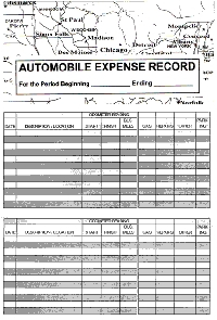 Auto Expense Checkbook Keeper