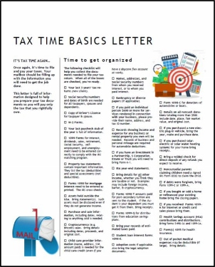 Tax Time Basics Organizer