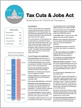 Tax Cuts and Jobs Act Newsletter