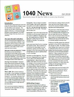 1040 News - Quarterly Tax News & Tips