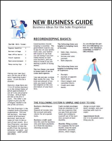 New Business Guide (sole proprietor)