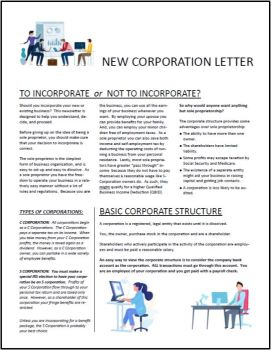 New Corporation Guide