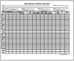 Individual Payroll (Horizontal)