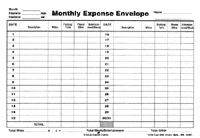 Monthly Expense Envelope